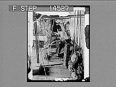 view A skilled Arab weaver and his primitive loom weaving the finest of Syrian silk. [Active no. 11467 : non-stereo photonegative,] digital asset: A skilled Arab weaver and his primitive loom weaving the finest of Syrian silk. [Active no. 11467 : non-stereo photonegative,] 1913.