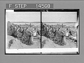 view East over Tigris to mound of Nineveh, showing wool-laden keleks and arched bridge, Mosul. Caption no. 11489 stereoscopic photonegative digital asset: East over Tigris to mound of Nineveh, showing wool-laden keleks and arched bridge, Mosul. Caption no. 11489 stereoscopic photonegative 1913.