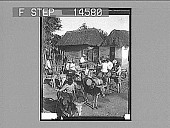 view Water carriers and thatched roof homes, Barranquilla, Colombia. 11496 photonegative 1906 digital asset number 1