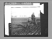 "view Turning up the soil of ""Old England"" with a modern motor plow. [Active no. 11500 : photonegative,] 1905 digital asset number 1"