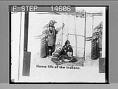 view Home life of the Sac and Fox Indians, showing sleeping papoose; S.&.F. Reservation, Oklahoma. 11506 Photonegative digital asset: Home life of the Sac and Fox Indians, showing sleeping papoose; S.&.F. Reservation, Oklahoma. 11506 Photonegative 1905.