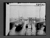view [Rail line beside boat in Panama Canal.] 12322 photonegative digital asset number 1
