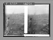 view [Rail line and workers.] [Active no. 12405 : stereo photonegative.] digital asset number 1