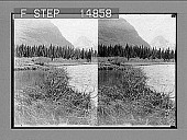 view [Mountains, lake, trees. Active no. 13249 : stereo photonegative.] digital asset number 1