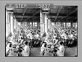 view Women workers in a shoe factory. Active no. 13527 : stereo photonegative.] digital asset: Women workers in a shoe factory. Active no. 13527 : stereo photonegative.]