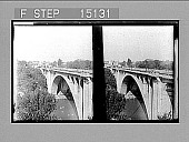 view [High concrete bridge over river. Active no. 14524 : stereo photonegative.] digital asset number 1