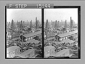view [Rail line among oil derricks. Active no. 14570 : stereo photonegative.] digital asset number 1