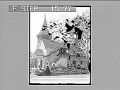 view [Church, exterior view with figures Active no. 20122 : non-stereo photonegative.] digital asset number 1