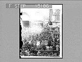 view Ceremony of washing the Saint's feet, Jerusalem. [on negative]. [Active no. 20141 : half-stereo photonegative,] 1896 digital asset number 1