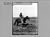 """view """"Me Ome,"""" A Sarcees Squaw hunting Prairie Chickens, Alberta, Canada. Copyright 1900 by Underwood & Underwood. [on negative] [Active no. 20300 : nonb-stereo photonegative,] digital asset: """"Me Ome,"""" A Sarcees Squaw hunting Prairie Chickens, Alberta, Canada. Copyright 1900 by Underwood & Underwood. [on negative] [Active no. 20300 : nonb-stereo photonegative,] 1900."""