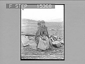 view Indian Mother and Papoose, Morley, Alberta, Canada. Copyright 1900 by Underwood & Underwood. [on negative] [Active no. 20703 : non-stereo photonegative.] digital asset number 1