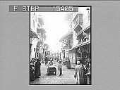 view Gamaliel Street, Cairo, Egypt. Copyright 1896 by Underwood & Underwood. [on envelope] 20816 [Photonegative,] 1896 digital asset number 1