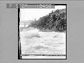 view Whirlpool Rapids and Cantilever Bridge, Niagara Falls, U.S.A. Copyright 1894 by Strohmeyer & Wyman. [on negative] [Active no. 20963 : half-stereo photonegative,] digital asset: Whirlpool Rapids and Cantilever Bridge, Niagara Falls, U.S.A. Copyright 1894 by Strohmeyer & Wyman. [on negative] [Active no. 20963 : half-stereo photonegative,] 1894.