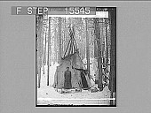 "view ""Deep within the Forest is the Indian's Wigwam Home."" Copyright 1895 by Geo. Barker. [on negative.] [Active no. 21336 : half-stereo photonegative,] digital asset: ""Deep within the Forest is the Indian's Wigwam Home."" Copyright 1895 by Geo. Barker. [on negative.] [Active no. 21336 : half-stereo photonegative,] 1895."