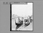 """view [""""Omaha Ex."""" on envelope; two small boats with U.S. Flags in river.] [Active no. 21386 : half-stereo photonegative,] 1898 digital asset number 1"""