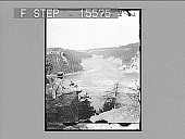 """view Looking over the """"Whirlpool"""" and down the river--from Canadian side--Niagara, U.S.A. Copyright 1901 by Underwood & Underwood. [on negative] [Active no. 21496 : non-stereo photonegative,] 1901 digital asset number 1"""