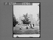 view [Students seated on university campus lawn. Active no. 22166 : non-stereo photonegative,] digital asset: [Students seated on university campus lawn. Active no. 22166 : non-stereo photonegative,] 1900.