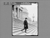 view Man descending front steps of U.S. Capitol. Copyright 1898 by Strohmeyer & Wyman. [on negative]. [Active no. 22364 : non-stereo photonegative,] digital asset: Man descending front steps of U.S. Capitol. Copyright 1898 by Strohmeyer & Wyman. [on negative]. [Active no. 22364 : non-stereo photonegative,] 1898.