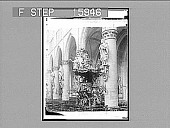 view Finest Pulpit in the World Cathedral, Brussels, Bel[gium]. [On negative.] [Active no. 23058 : half-stereo photonegative.] digital asset: Finest Pulpit in the World Cathedral, Brussels, Bel[gium]. [On negative.] [Active no. 23058 : half-stereo photonegative.]
