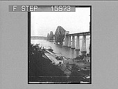 """view """"The Forth Bridge, from the Bluff, Scotland. Copyright 1896 by Strohmeyer & Wyman."""" [on negative] 23165 photonegative 1896 digital asset number 1"""