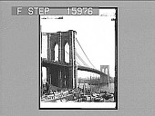 view Brooklyn Bridge, near view, New York, U.S.A. Copyright 1895 by Strohmeyer & Wyman. [on negative.] [Active no. 23171 : half-stereo photonegative,] digital asset: Brooklyn Bridge, near view, New York, U.S.A. Copyright 1895 by Strohmeyer & Wyman. [on negative.] [Active no. 23171 : half-stereo photonegative,] 1895.