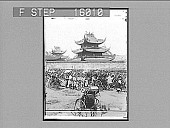 view Buddhist Temple at Loong Wah (8 miles south from Shanghai), China. Copyright 1900 by Underwood & Underwood. [on negative] [Active no. 23262 : half-stereo photonegative,] 1900 digital asset number 1