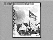 view [Troops and flag in tent camp.] 23285 photonegative digital asset number 1