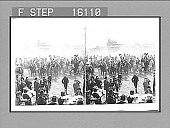 view Rough Riding by the Black Hill Pioneers--cheering President Roosevelt--Edgemont, S.D. Copyright 1903 by Underwood & Underwood. [on negative] [Active no. 23514 : stereo photonegative,] 1903 digital asset number 1