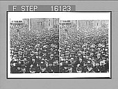 "view ""Minnesota's sons in dense throngs at Capitol, St. Paul, to hear Pres. Roosevelt. Copyright 1903 by Underwood & Underwood."" (on negative). No. 23534 : stereoscopic photonegative digital asset: ""Minnesota's sons in dense throngs at Capitol, St. Paul, to hear Pres. Roosevelt. Copyright 1903 by Underwood & Underwood."" (on negative). No. 23534 : stereoscopic photonegative, 1903."