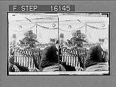 "view ""Sec. of Agriculture, Wilson, President Roosevelt and Senator Smoot of Utah, at Ogden. Copyright 1903 by Underwood & Underwood."" on negative 23568 photonegative 1903 digital asset number 1"