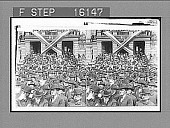 "view ""Earnest crowds listening to President Roosevelt, Court House Park, Quincy, Illinois. Copyright 1903 by Underwood & Underwood."" on negative. No. 23570 : stereoscopic photonegative digital asset: ""Earnest crowds listening to President Roosevelt, Court House Park, Quincy, Illinois. Copyright 1903 by Underwood & Underwood."" on negative. No. 23570 : stereoscopic photonegative, 1903."