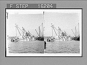 """view -------er """"Reina Mercedes""""--sunk by our Navy--near Morro Castle, Santiago, Cuba. Copyright 1899 by Strohmeyer & Wyman. [on negative] [Active no. 23711 : stereo photonegative,] 1899 digital asset number 1"""