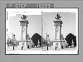 view One of the Four Magnificent White Marble Pylons of the Alexander III Bridge, Exposition 1900, Paris, France. Copyright 1900 by Underwood & Underwood. [on negative]. [Active no. 23775 : stereo photonegative,] digital asset: One of the Four Magnificent White Marble Pylons of the Alexander III Bridge, Exposition 1900, Paris, France. Copyright 1900 by Underwood & Underwood. [on negative]. [Active no. 23775 : stereo photonegative,] 1900.