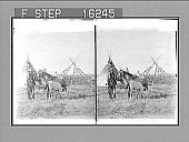 view ----- this Sarcees Teepee Village on the great Prairies of Alberta, Canada. Copyright 1900 by Underwood & Underwood. [On negative.] [Active no. 23809 : stereo photonegative,] digital asset: ----- this Sarcees Teepee Village on the great Prairies of Alberta, Canada. Copyright 1900 by Underwood & Underwood. [On negative.] [Active no. 23809 : stereo photonegative,] 1900.