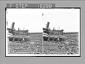 view -----nd Wreckage on the beach at Texas City--Galveston Disaster. Copyright 1900 by Underwood & Underwood. [on negative] [Active no. 23911: stereo photonegative,] 1900 digital asset number 1