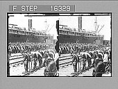 view Eighth U.S. Infantry ready to embark for Cuba. Copyright 1898 by Strohmeyer & Wyman. [on negative] [Active no. 24038 : stereo photonegative,] digital asset: Eighth U.S. Infantry ready to embark for Cuba. Copyright 1898 by Strohmeyer & Wyman. [on negative] [Active no. 24038 : stereo photonegative,] 1898.