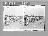 """view """"Rough Riders"""" as they went into Cuba. Copyright 1898 by Strohmeyer & Wyman. [on negative] [Active no. 24052 : stereo photonegative,] 1898 digital asset number 1"""
