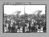 view -----the City Wall--Coolie Carriages awaiting hirers--Old Shanghai, China. Copyright 1900 by Underwood & Underwood. [on negative] [Stereo photonegative,] 1900 digital asset number 1