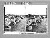 """view The Bridge of """"Spain""""--between old and new Manila, Philippines. Copyright 1899 by Underwood & Underwood. [on negative.] 24159 photonegative 1899 digital asset number 1"""
