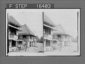 view [Deserted Village of Tina Jeros, scene of hard fighting--Philippines. Copyright 1899 by Underwood & Underwood.] on negative 24195 photonegative 1899 digital asset number 1