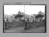 view Aguinaldo's ruined Headquarters, after the American capture, Malolos, Philippine Islands. Copyright 1899 by Underwood & Underwood. [on negative] [Active no. No. 24212 : stereo photonegative,] 1899 digital asset number 1