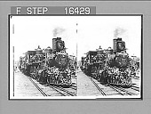 view [Flower-draped train engine of McKinley presidential campaign.] 24274 photonegative digital asset number 1