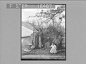 "view ""Family and contemporary home of an Indian Chief. Copyright 1900 by Underwood & Underwood."" [on negative] Photonegative digital asset: ""Family and contemporary home of an Indian Chief. Copyright 1900 by Underwood & Underwood."" [on negative] Photonegative 1900."