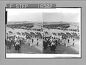 view [Overall of outdoor event with horses in India.] 24442 photonegative digital asset: [Overall of outdoor event with horses in India.] 24442 photonegative 1903