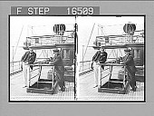 """view [Sir Thomas Lipton and the Hon. Mr. Russell--deck of the Steam Yacht """"Erin"""", off Sandy Hook, U.S.A. Copyright 1901 by Underwood & Underwood.] on negative 24464 photonegative 1901 digital asset number 1"""