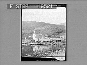 """view """"A Hamlet on the Hardanger Fjord, Western Norway. Copyright 1898 by R. Y. Young."""" [on negative] 24647 Photonegative 1898 digital asset number 1"""