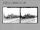 view [Crowded railroad flatcars.] 26444 photonegative digital asset: [Crowded railroad flatcars.] 26444 photonegative.