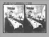view [Banquet. Active no. 27950 : stereo photonegative.] digital asset: [Banquet. Active no. 27950 : stereo photonegative.]