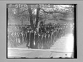 view [University graduation procession outdoors.] 1729 photonegative digital asset: [University graduation procession outdoors.] 1729 photonegative.
