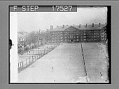 view CAMBRIDGE, Mass.--Photo shows the tennis courts of Harvard University, at Cambridge. Here is where the tennis devotees while away their spare hours, when not studying. In the background may be seen Perkins Hall. [Overview of tennis action on multiple c... digital asset: CAMBRIDGE, Mass.--Photo shows the tennis courts of Harvard University, at Cambridge. Here is where the tennis devotees while away their spare hours, when not studying. In the background may be seen Perkins Hall. [Overview of tennis action on multiple courts.] 1756 photonegative.
